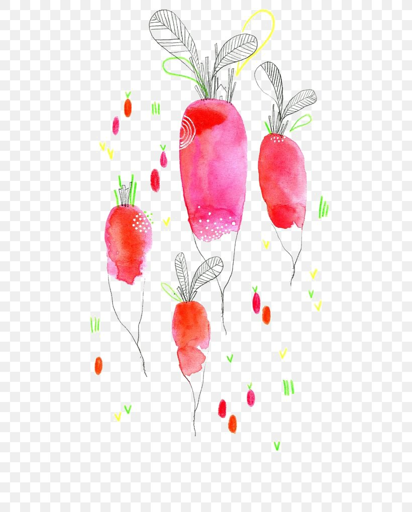 Watercolor Painting Drawing Vegetable Illustration, PNG, 564x1019px, Watercolor Painting, Art, Branch, Carrot, Color Download Free
