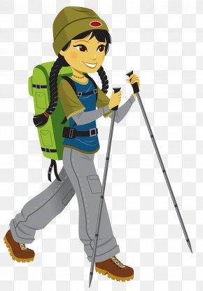 Hiking - Climbing Mountaineering Clip Art PNG
