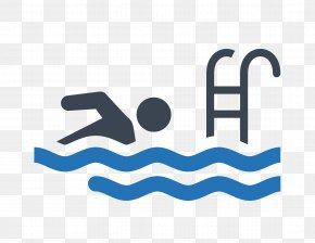 Blue Plane Simple Exercise Swimming - Hot Tub Swimming Pool Room Icon PNG