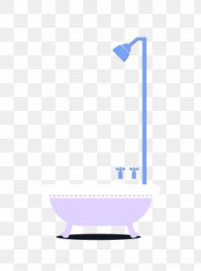 Vector Bathroom Colorful Shower With Shower Tub - Shower Gel Bathroom Tap PNG