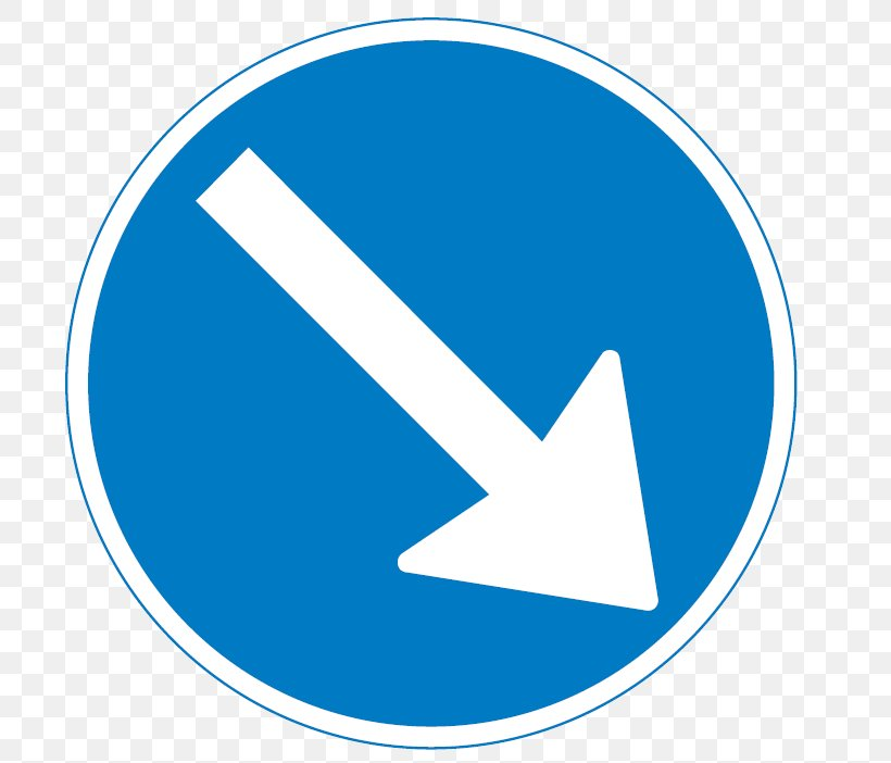 Traffic Sign Mandatory Sign Arrow, PNG, 739x702px, Traffic Sign, Area, Bicycle, Blue, Brand Download Free