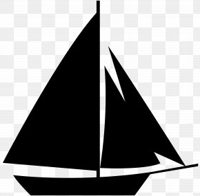 Sailboat Silhouette Clip Art - Sailboat Silhouette Clip Art PNG