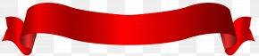 Long Red Banner Transparent Clip Art Image - Clip Art PNG