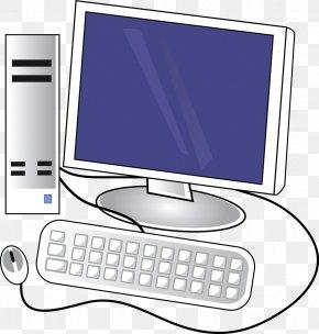 Computer Desktop Pc - Computer Keyboard Desktop Computers Personal Computer Clip Art PNG