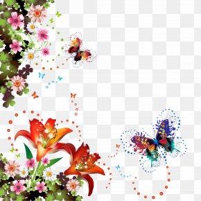 Flower - Picture Frames Floral Design Cut Flowers Clip Art PNG