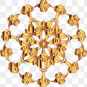 Golden Background - Floral Design Flower Pattern PNG
