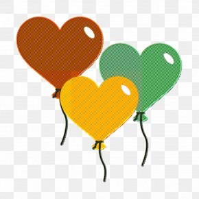 Yellow Love - Love And Wedding Icon Balloons Icon Heart Icon PNG