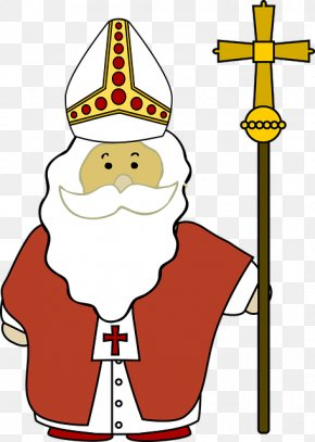 Lovely Hand-painted Pope - Pope Clip Art PNG