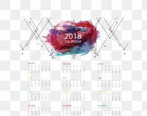 Abstract Graffiti Calendar Template - 365-day Calendar Euclidean Vector PNG