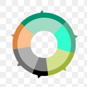 Colored Decorative Ring PPT - Pie Chart Proportionality Microsoft PowerPoint Bar Chart PNG