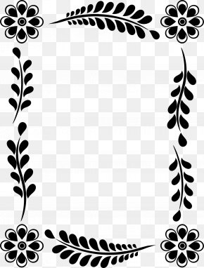 Leaf Decoration Box - Leaf Flower Floral Design Picture Frames Clip Art PNG