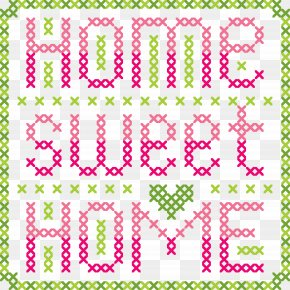 A Letter Pattern Of An English Alphabet Family - Letter Cross-stitch English Alphabet PNG