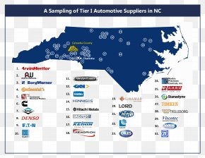Map - Map Western North Carolina Automotive Industry Manufacturing PNG
