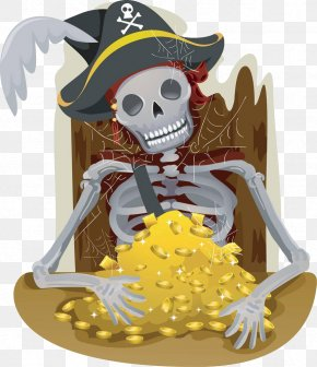Cartoon Skeleton Pirate - Piracy Royalty-free Illustration PNG