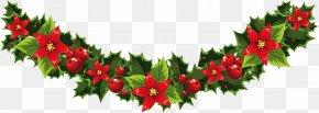 Garland - Santa Claus Borders And Frames Christmas Card Clip Art PNG