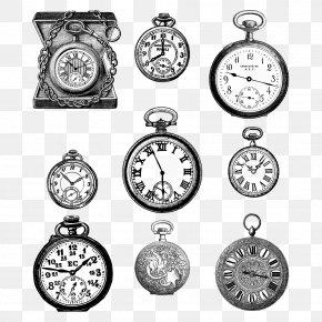 Retro Clock - Pocket Watch Clock Vintage PNG