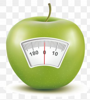 Apple Creative - Weighing Scale Apple Scale Ruler PNG