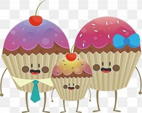 Muffin Dessert - Cartoon Cupcake Baking Cup Cake Frozen Dessert PNG