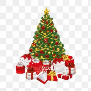 Christmas Tree - Christmas Tree Holiday Gift Christmas Decoration PNG