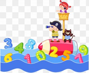 Vector Creative Digital Lake - Child Cartoon Piracy Illustration PNG