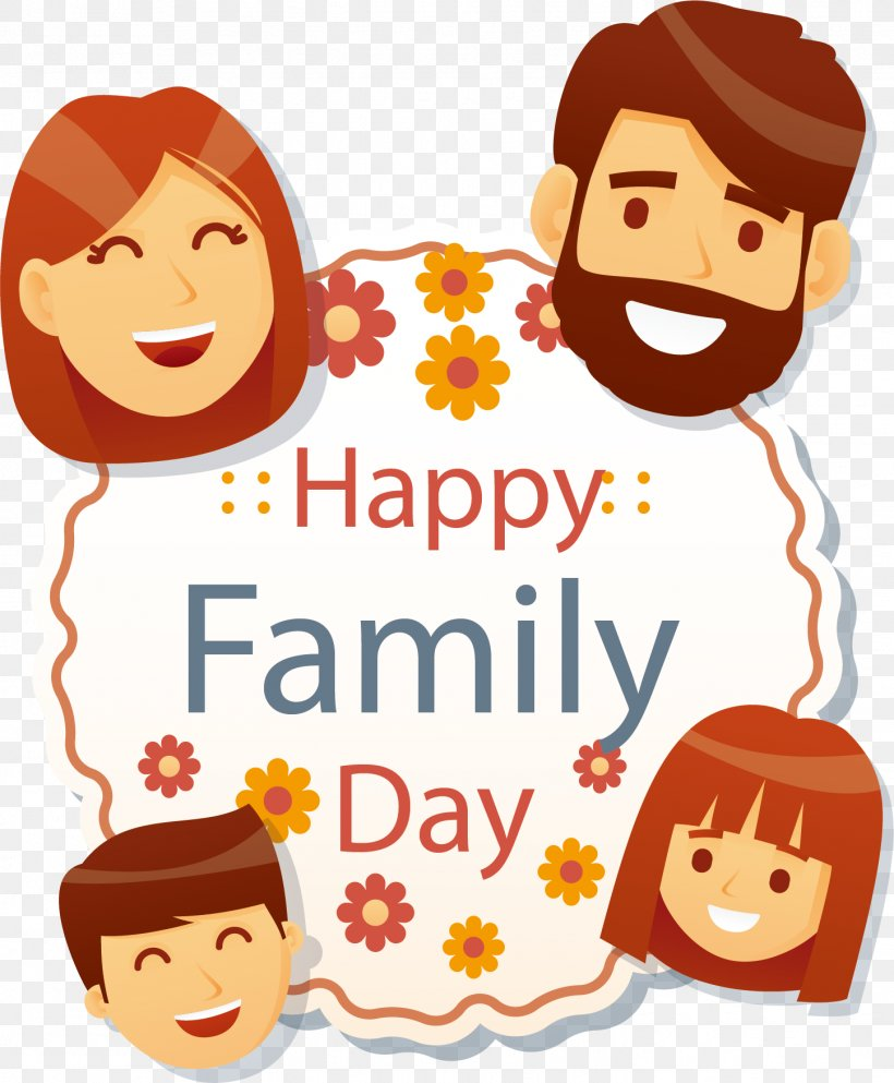 Family Day Illustration, PNG, 1447x1754px, Family, Animation, Art, Cheek, Clip Art Download Free