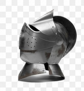 Metal Helmet - Middle Ages Knight Combat Helmet Stock Photography PNG