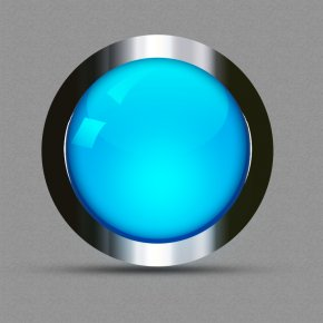 Blue Glossy Icon Button PSD - Blue Icon PNG