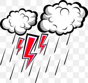 Rain And Thunder - Lightning Thunderstorm Rain PNG