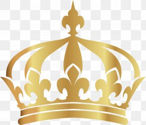 Vector Hand-painted Gold Crown - Crown PNG