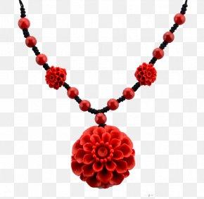 Flower Necklace - Necklace Red Coral Taobao Bracelet PNG