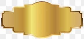 Gold Label Template Image - Template A Computer File PNG