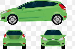 Green Ford - 2018 Ford Fiesta 2016 Ford Fiesta Car PNG