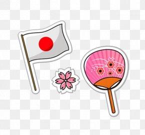 Japanese Cherry - Japan Flag PNG