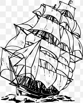 Cartoon Pirate Ship - Sailing Ship Piracy Clip Art PNG