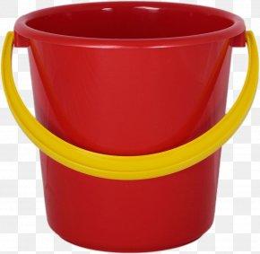 Plastic Red Bucket Image - Bucket Clip Art PNG