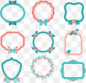 9 Vector Decorative Frame - Euclidean Vector Picture Frame Download Clip Art PNG