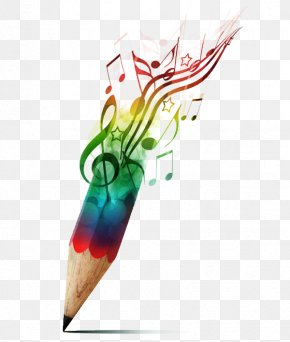Creative Color Pencil - Musical Note Pencil Drawing Musician PNG