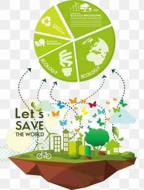 PPT Element Vector Graphics - Environmental Protection Green Energy Conservation Illustration PNG