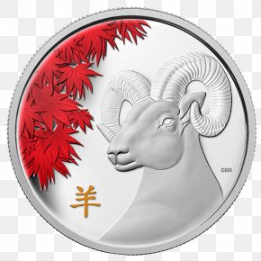 Goat - Goat Gold Coin Royal Canadian Mint Chinese Lunar Coins PNG