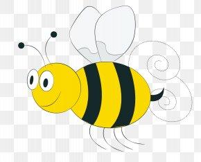 Hand Drawn Cute Bee - Honey Bee Euclidean Vector Clip Art PNG