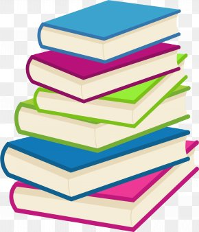 Stack Of Books - Book Sea Of Memories Library Clip Art PNG