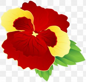 Red And Yellow Pansy Clipart Image - Flower Yellow Red Clip Art PNG