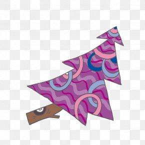 Purple Christmas Tree - Santa Claus Christmas Tree Gift PNG