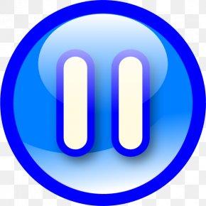 Pause Button Transparent Background - Button Clip Art PNG