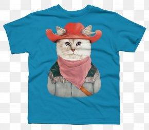 Cat Lover T Shirt - T-shirt Cat Kitten Painting Tabrez Mirza 'Tees Maar' Khan PNG