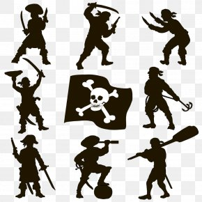 Hand-painted Pirate Image - Silhouette Piracy Royalty-free Clip Art PNG