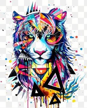 Watercolor Tiger - Art Watercolor Painting Drawing Canvas PNG