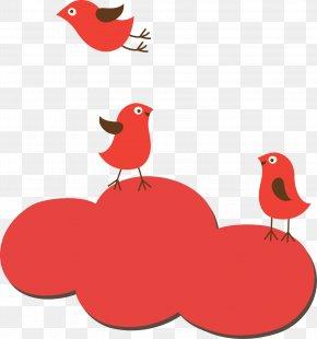 Bird Clouds Creative - Bird Clip Art PNG