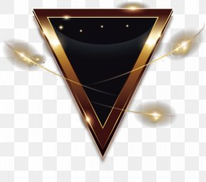 Inverted Triangle Geometry - Golden Triangle Light Geometry PNG