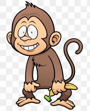 Banana Monkey - Monkey Stock Illustration Illustration PNG